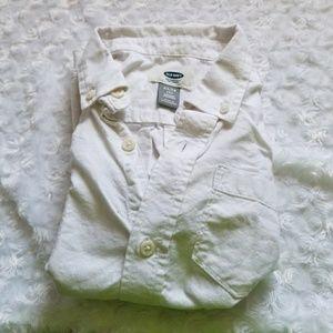 Boys XS 5 Regular Button Down Shirt White Collar